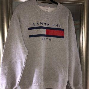 Tommy Hilfiger inspired Gamma Phi Beta sweatshirt
